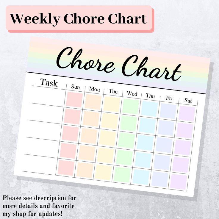 Weekly Chore Chart Pdf