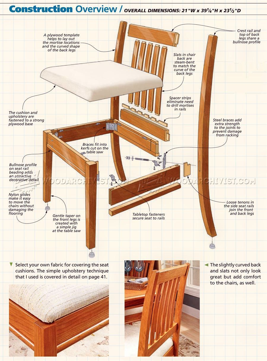 Wooden Dining Chair Plans Pdf