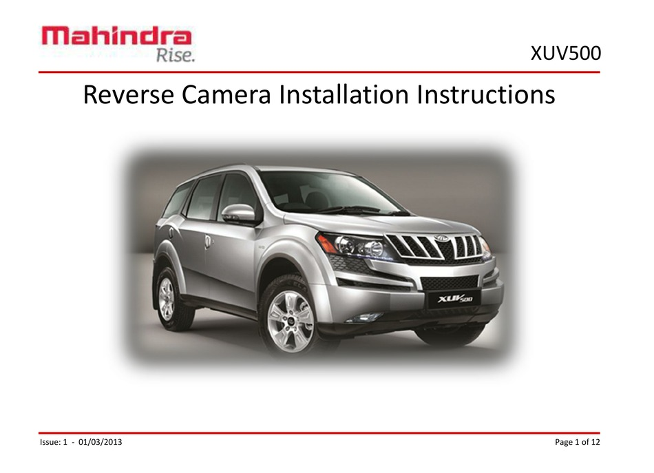 Xuv 500 Repair Manual Pdf