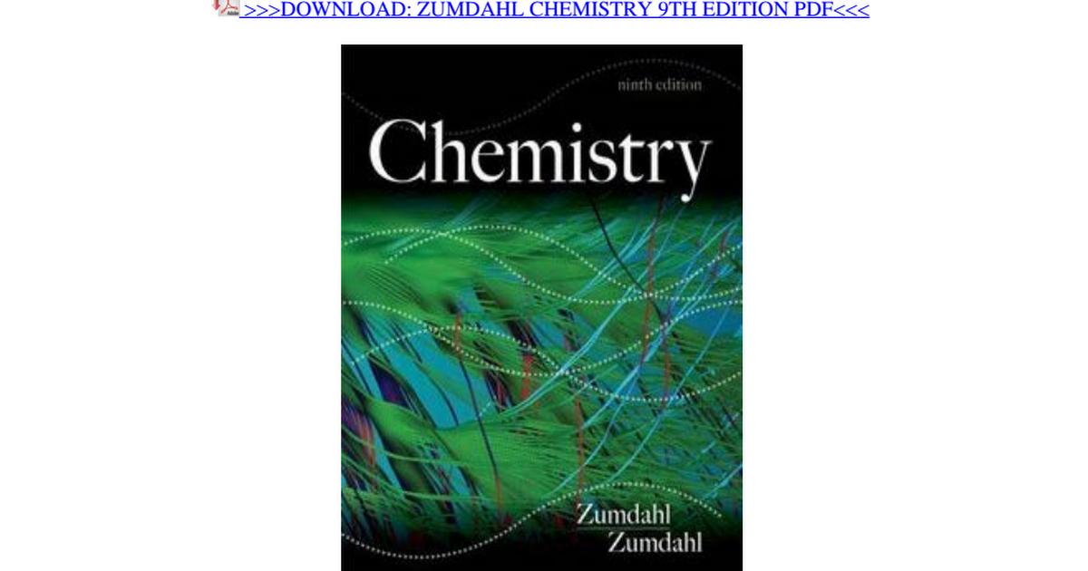 Zumdahl Chemistry Pdf