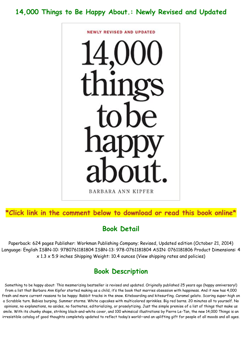 14000 Things To Be Happy About Pdf