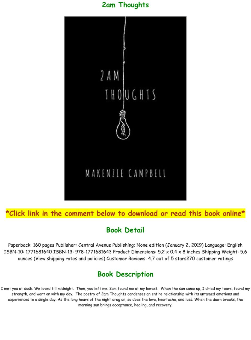 2am Thoughts Book Pdf Free Download