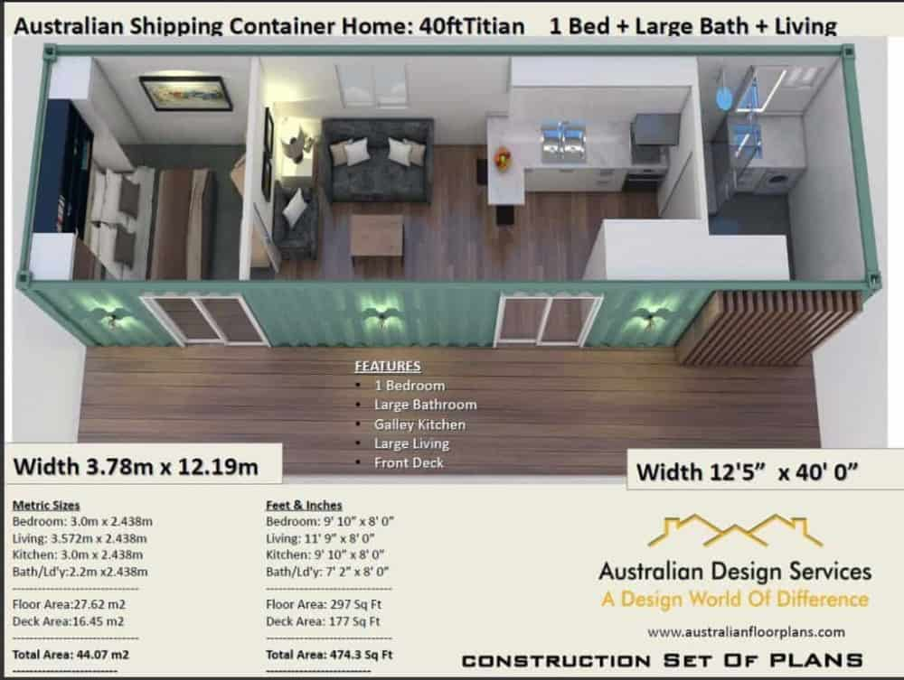40 Foot Container House Plans Pdf