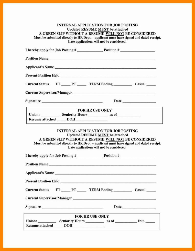 Aeropostale Job Application Form Print Out Elegant Resume Application Form Pdf