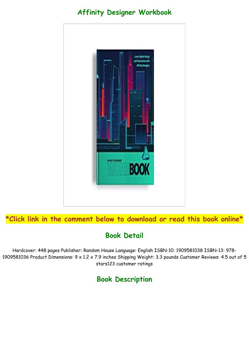 Affinity Designer Workbook Pdf Free