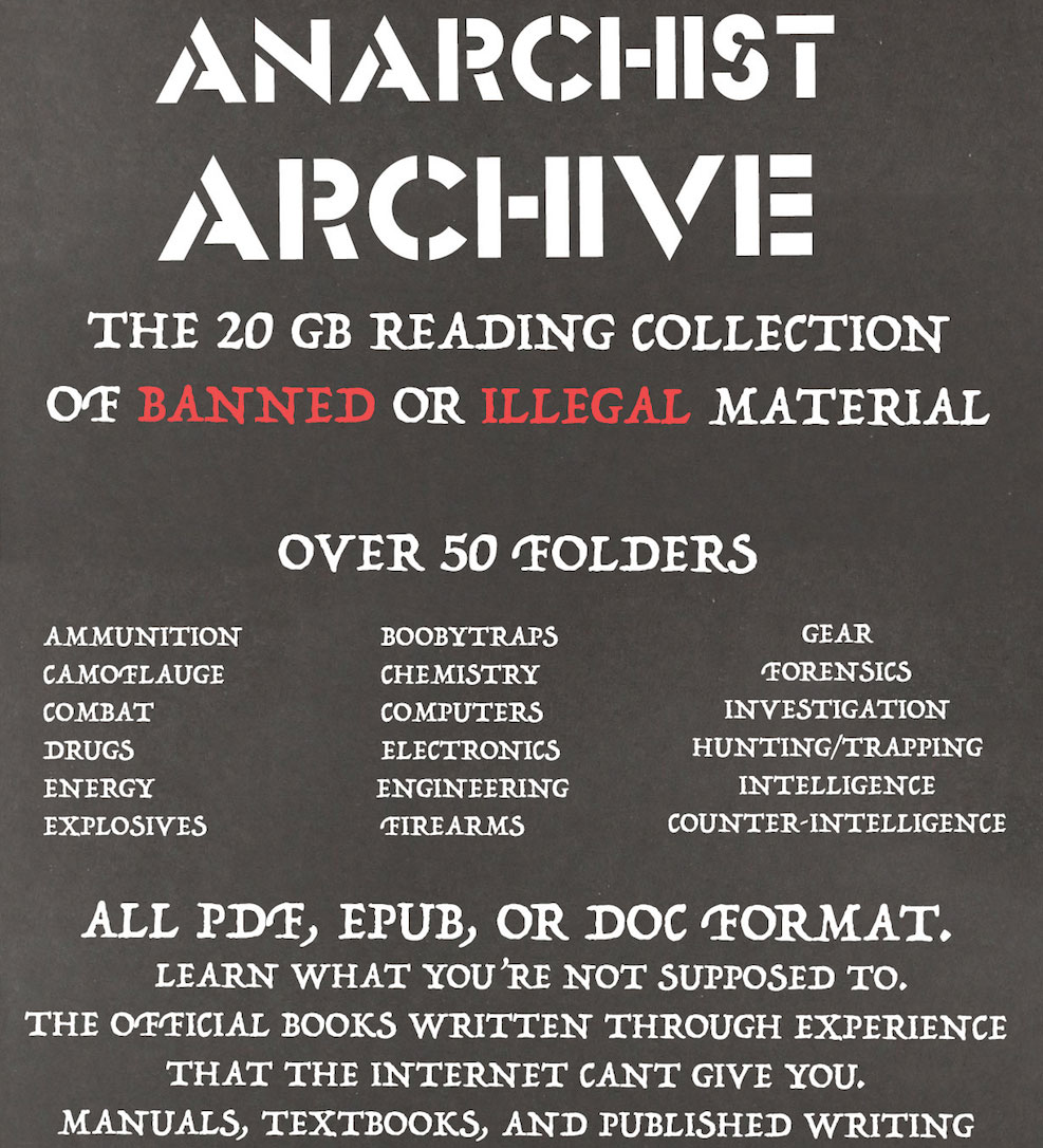 Anarchist Cookbook Pdf Archive