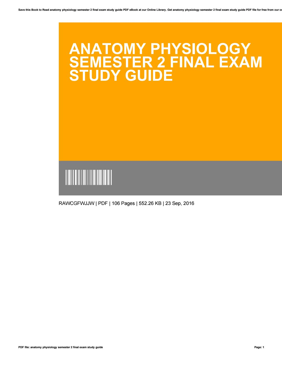 Anatomy And Physiology 2 Final Exam Pdf