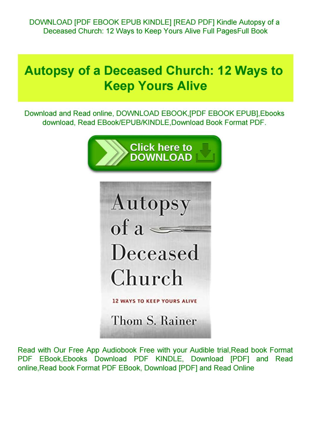 Autopsy Of A Deceased Church Pdf