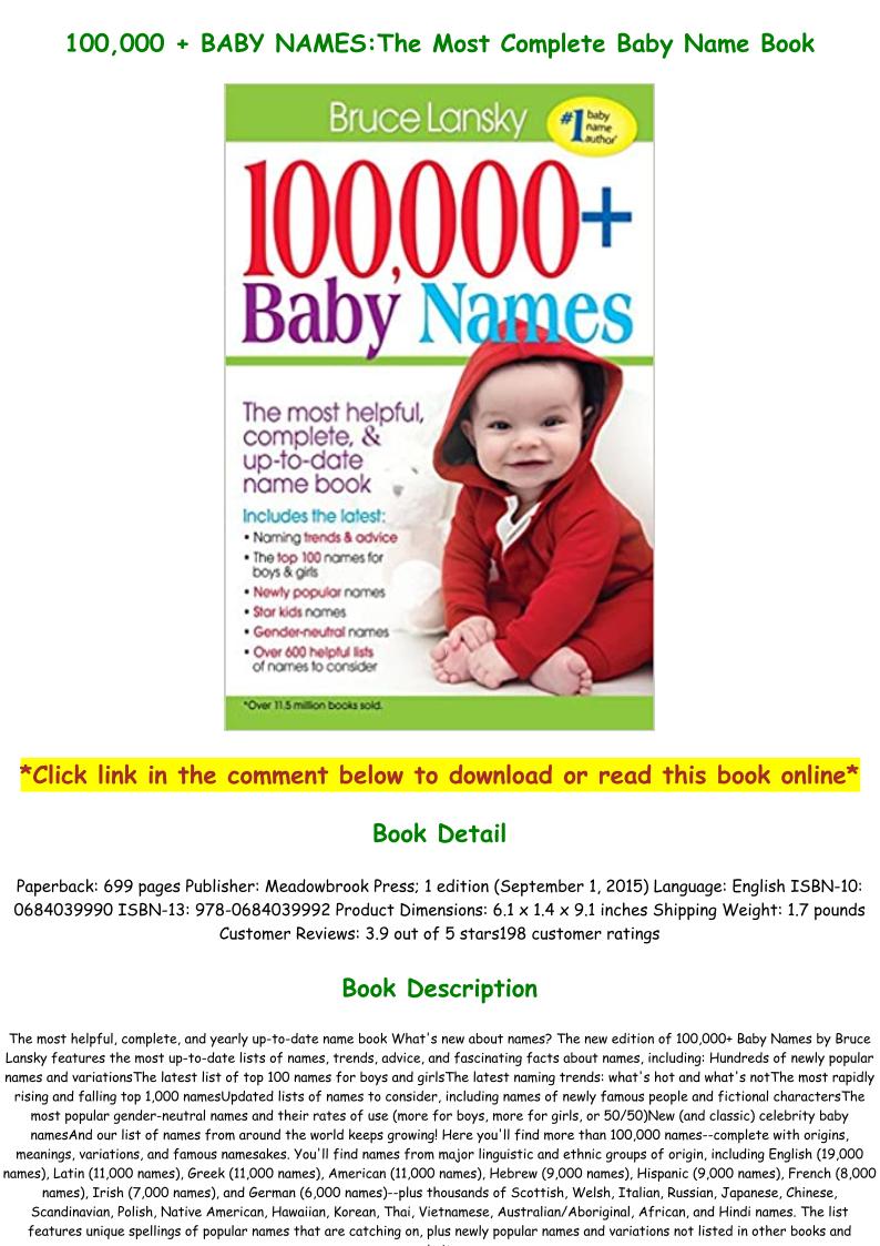 Baby Name Book Pdf