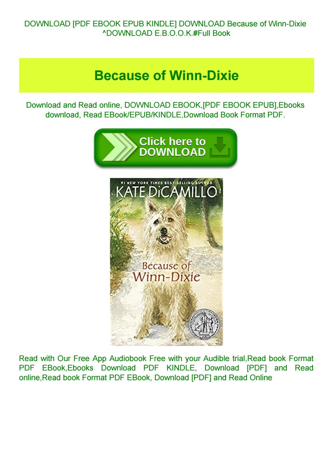 Because Of Winn Dixie Book Pdf Free