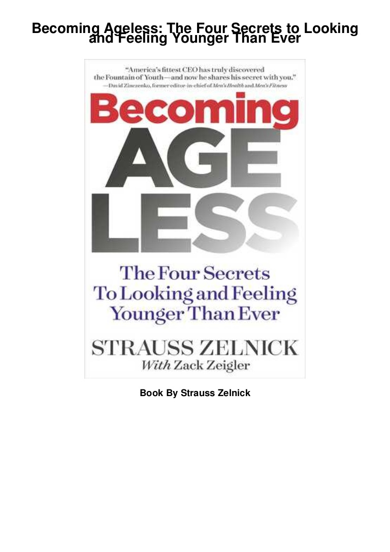 Becoming Ageless Pdf Free Download