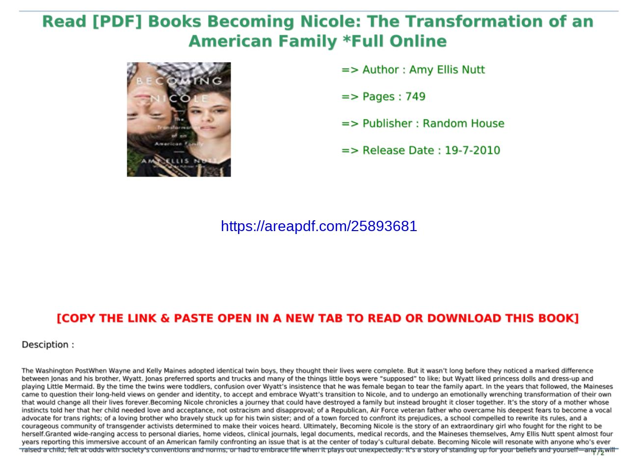 Becoming Nicole Pdf