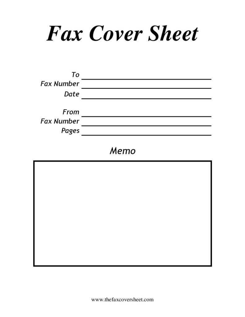 Blank Printable Fax Cover Sheet Pdf