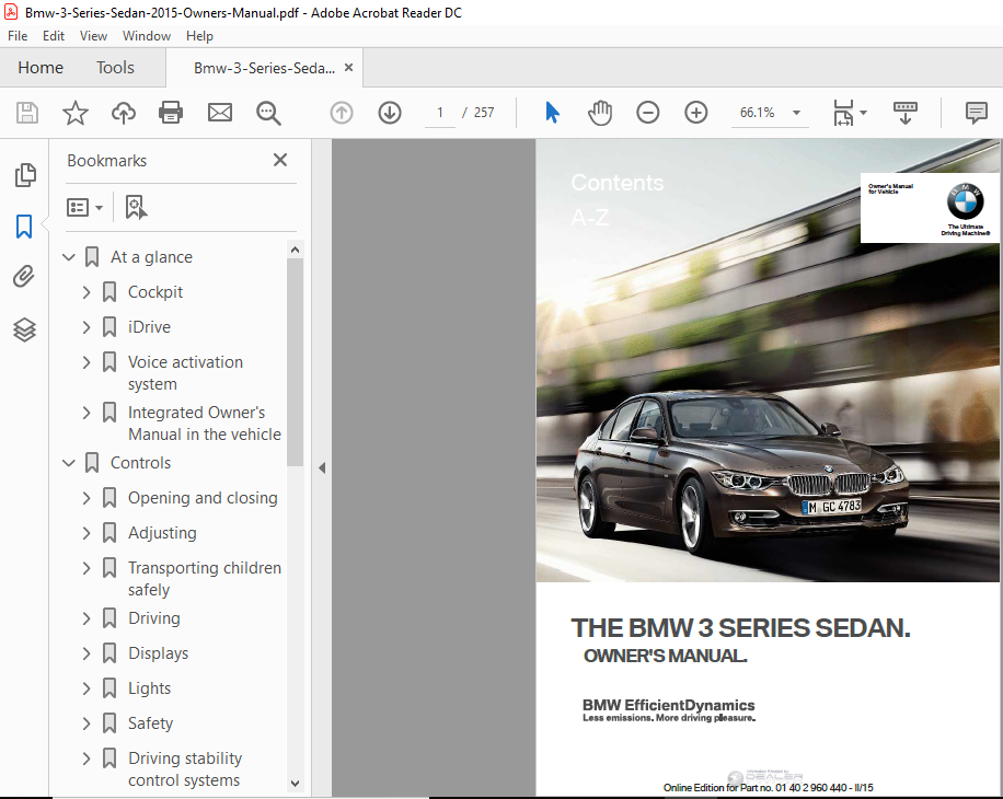 Bmw 3 Series Owners Manual Pdf