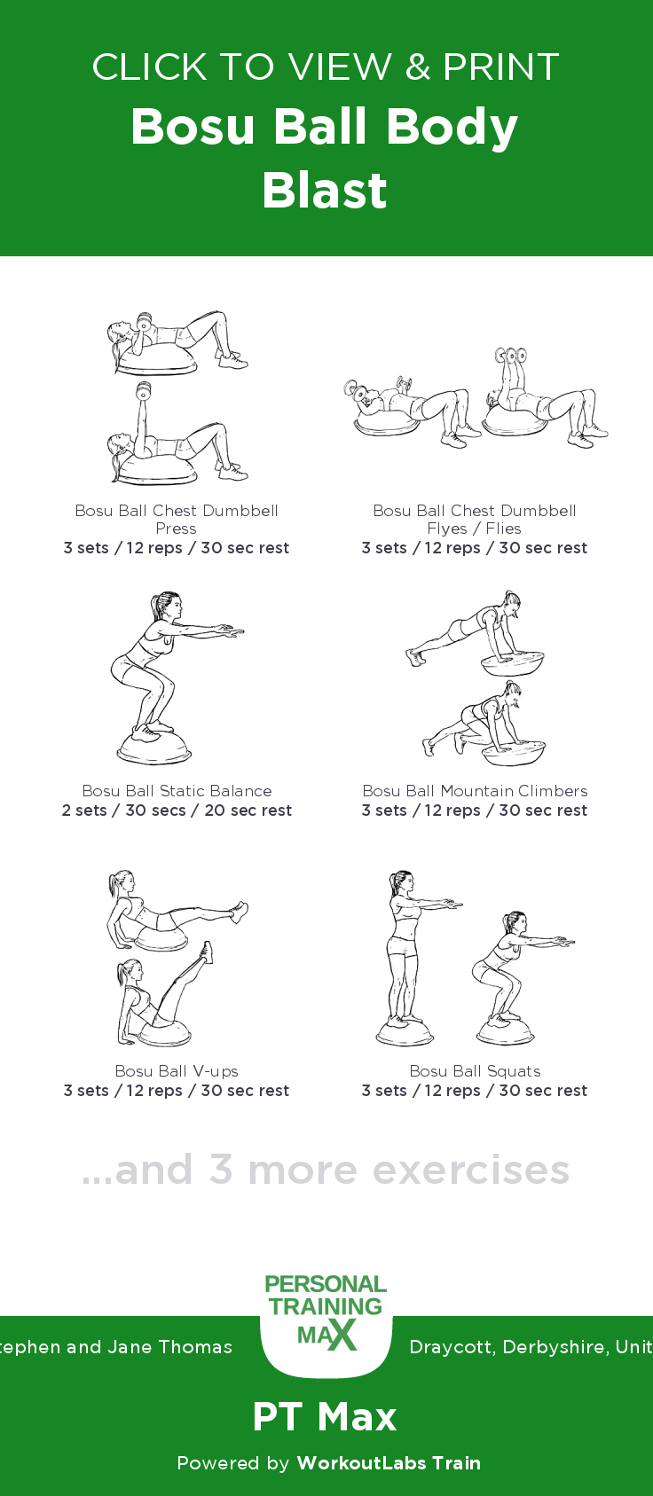 Bosu Ball Balance Exercises Pdf