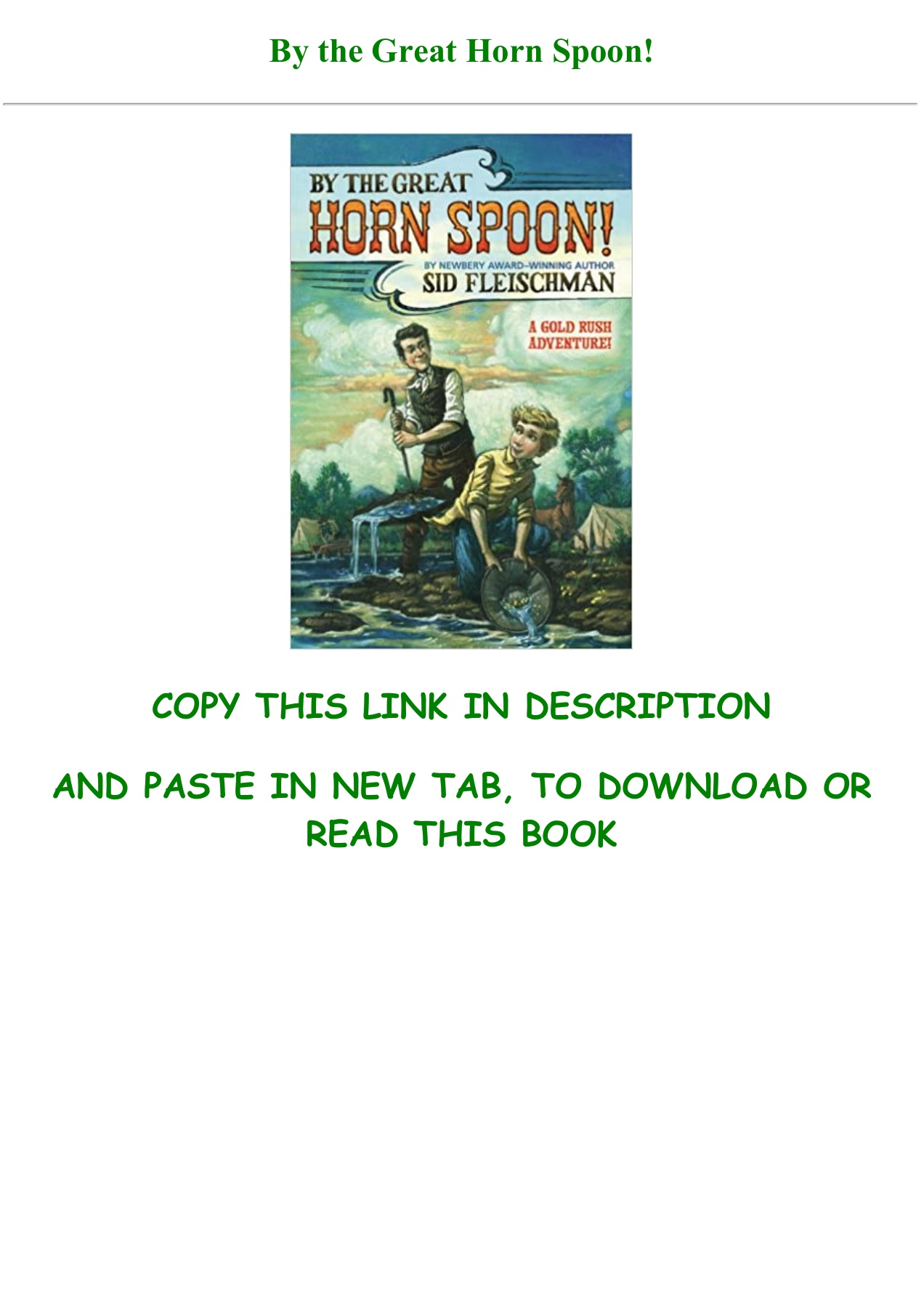By The Great Horn Spoon Pdf Book