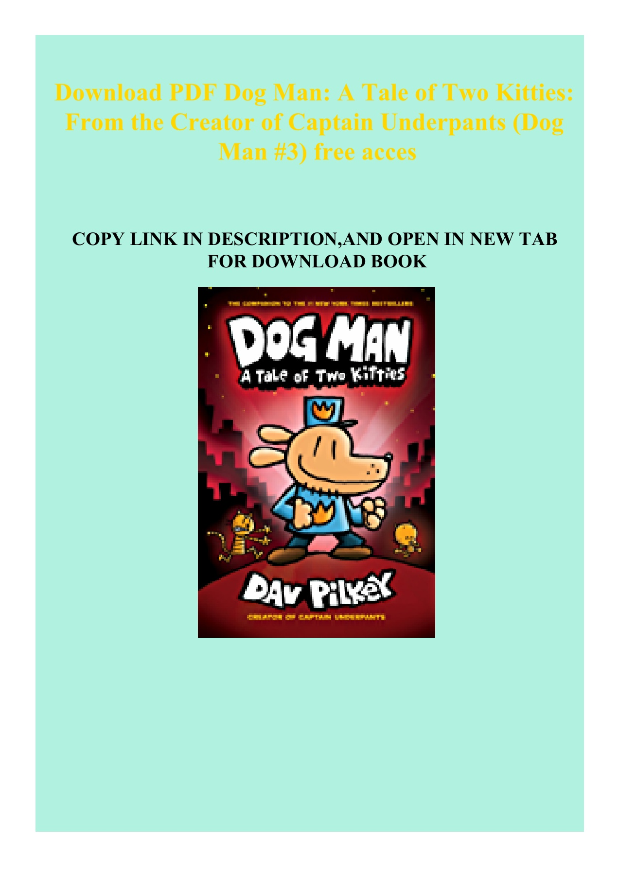 Captain Underpants Pdf Download Free