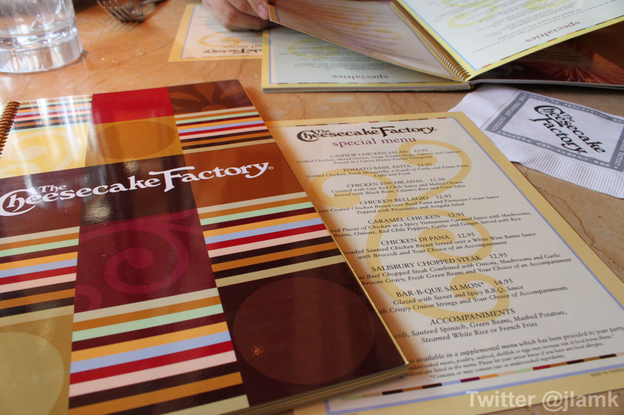 Cheesecake Factory Cheesecake Menu Pdf