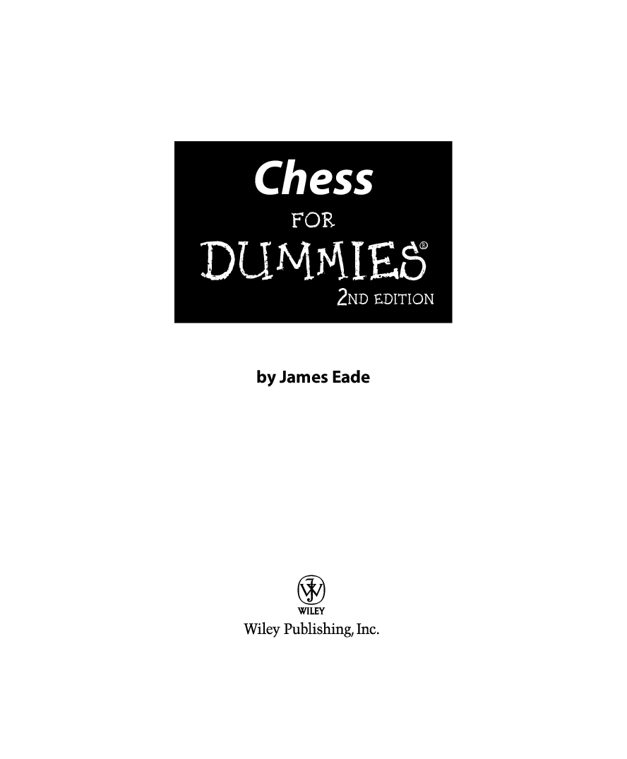 Chess For Dummies Pdf