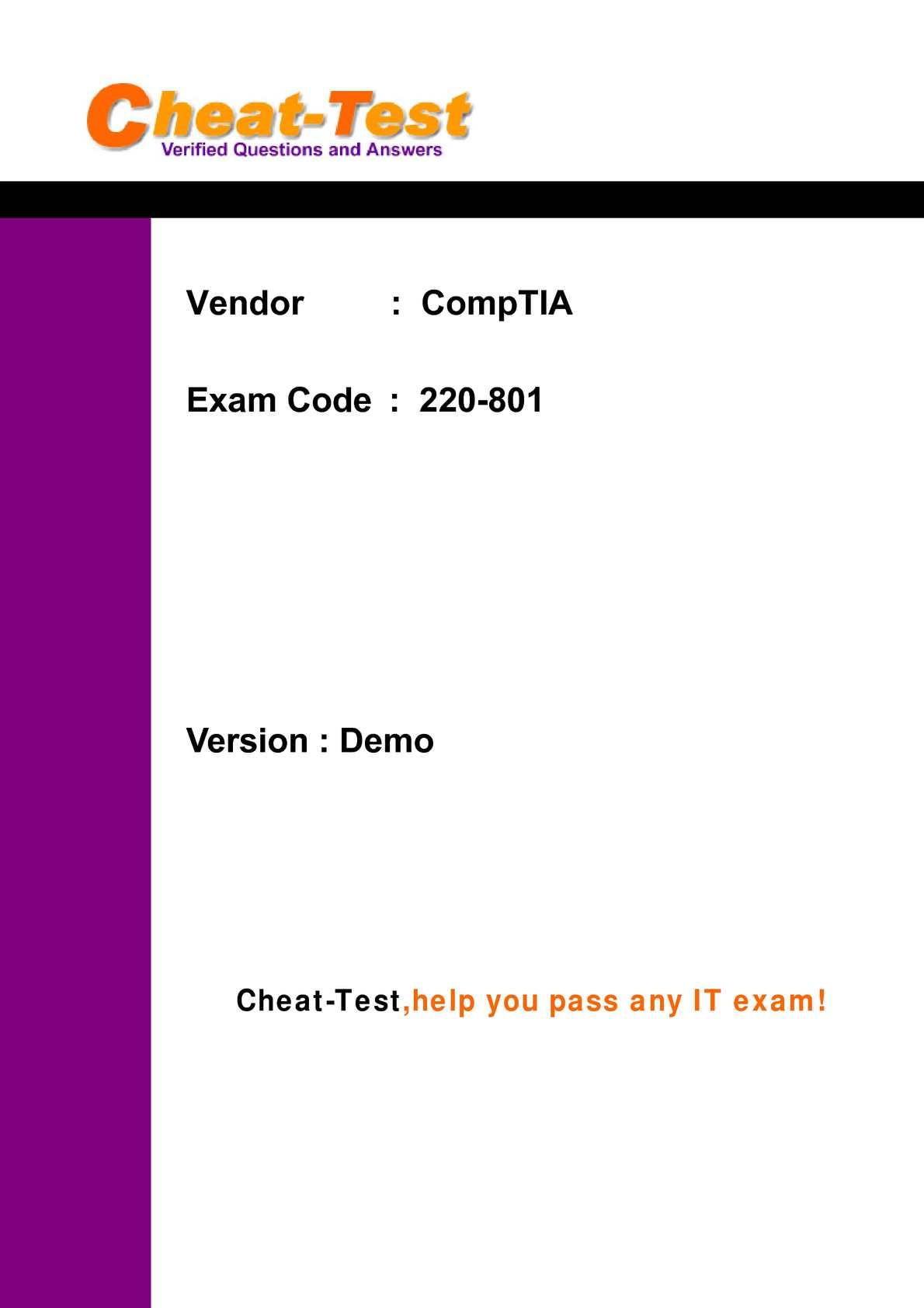 Comptia A Practice Test Pdf