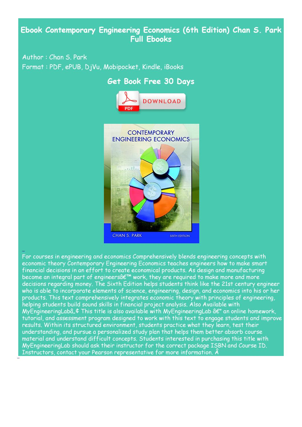 Contemporary Engineering Economics 6th Edition Pdf Free