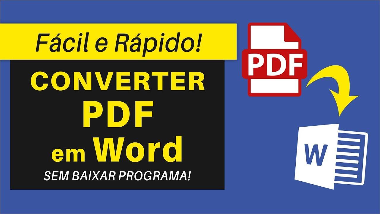 Conversor De Pdf Para Word Editavel