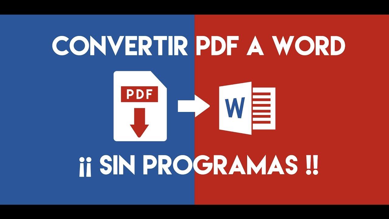 Convertir Pdf A Word Editable Online Gratis