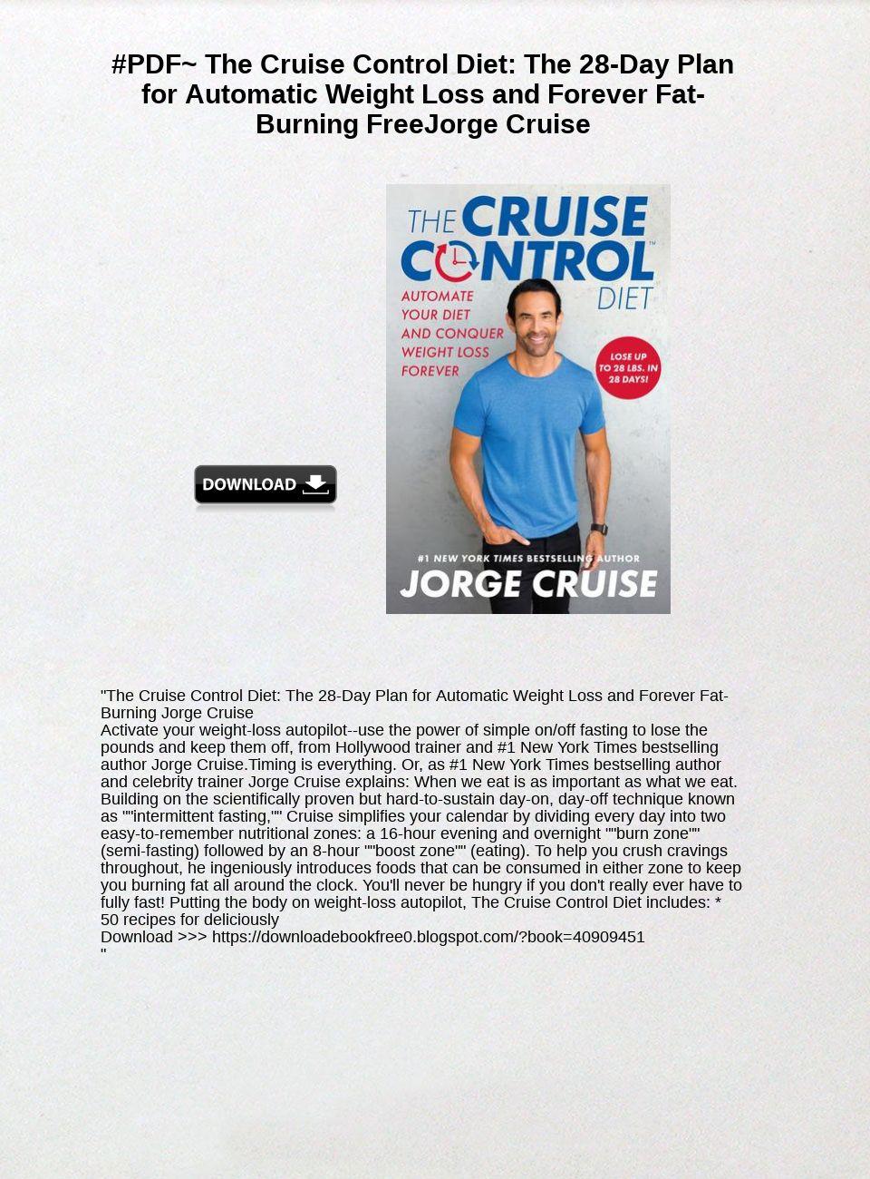 Cruise Control Diet Pdf