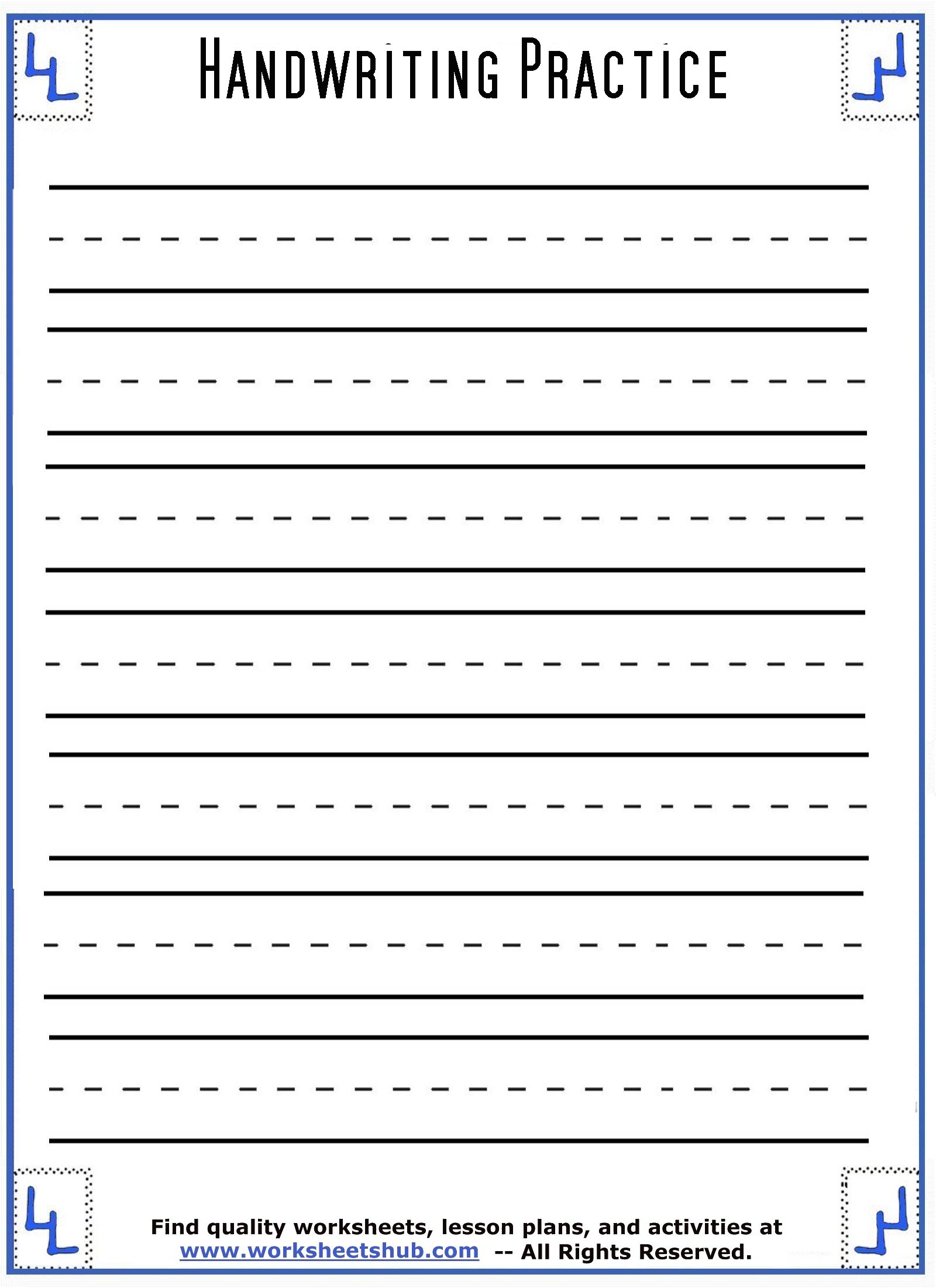 Cursive Writing Sentences Worksheets Pdf