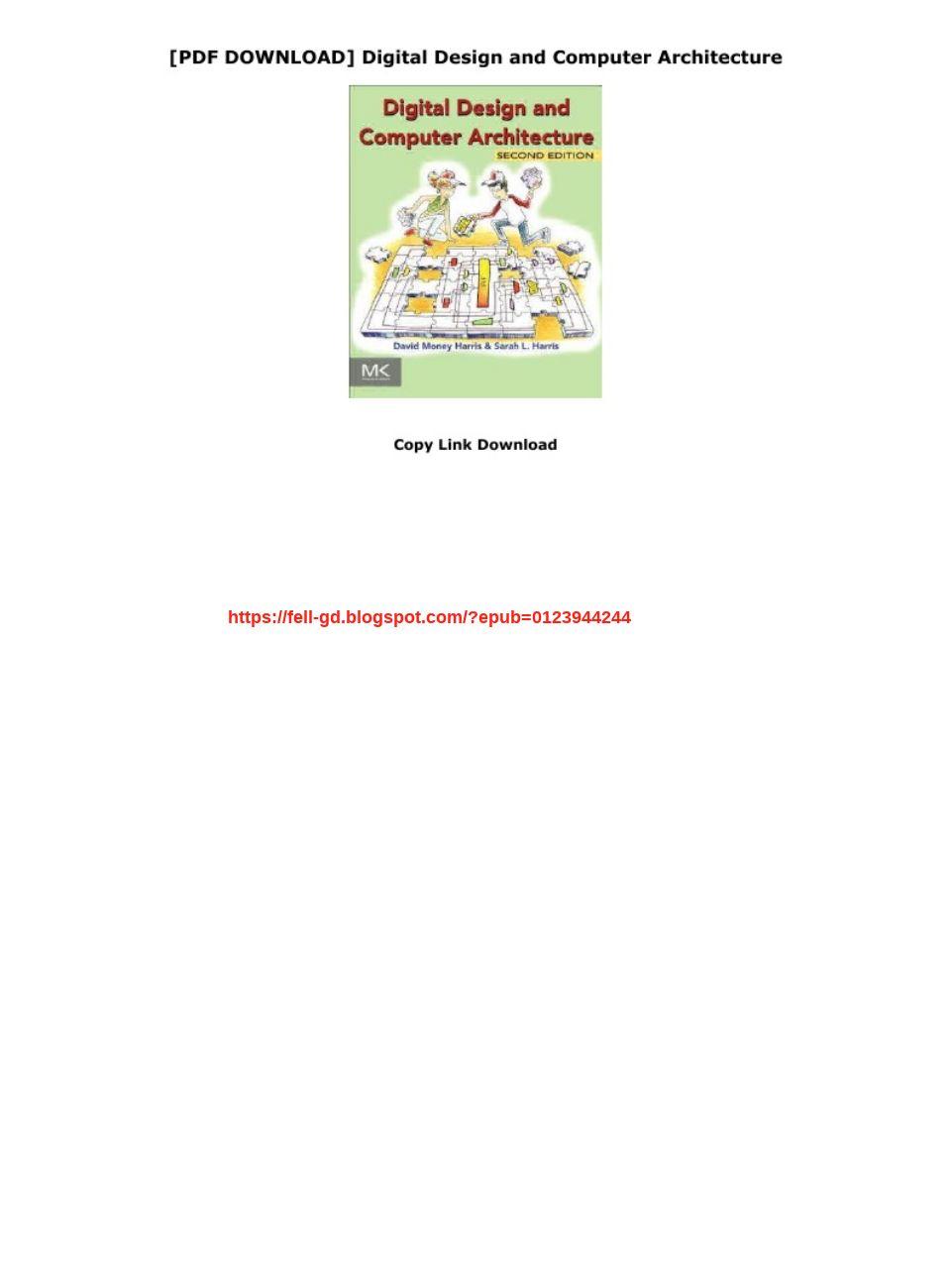 Digital Design And Computer Architecture Pdf Download