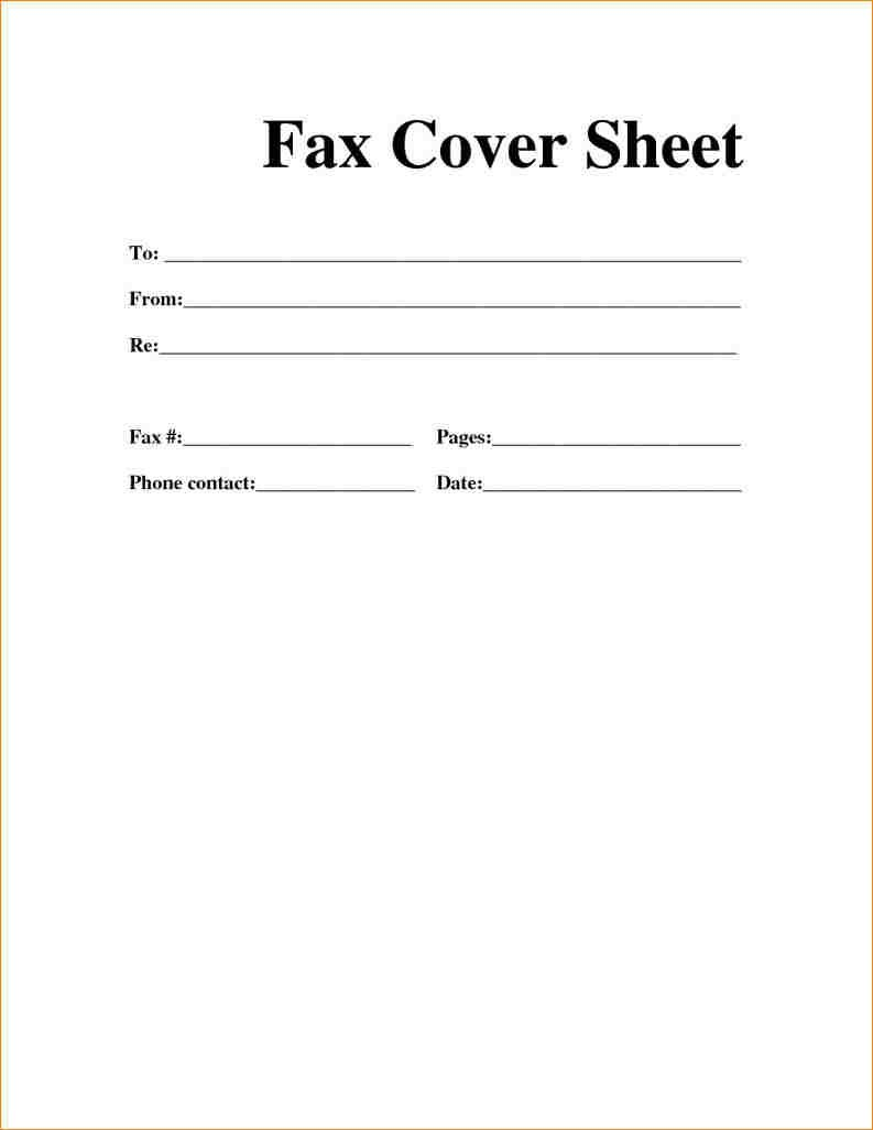 Downloadable Printable Fax Cover Sheet Pdf