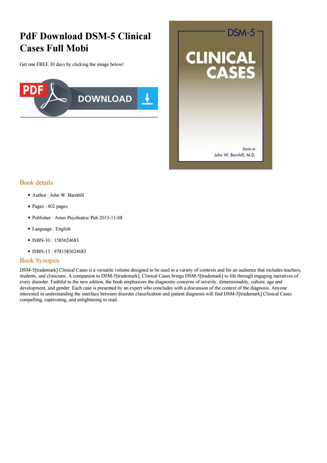 Dsm 5 Clinical Cases Pdf Download Free