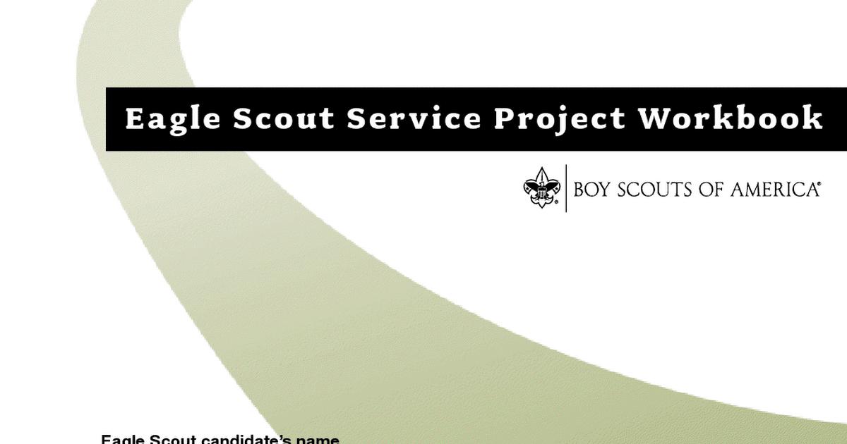 Eagle Scout Project Workbook Pdf