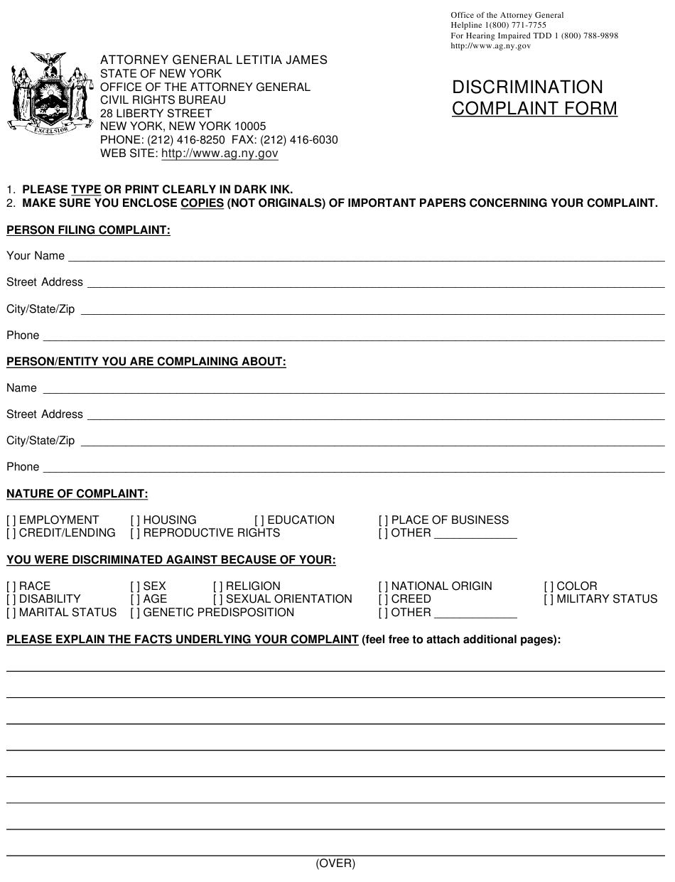 Eeoc Complaint Form Pdf