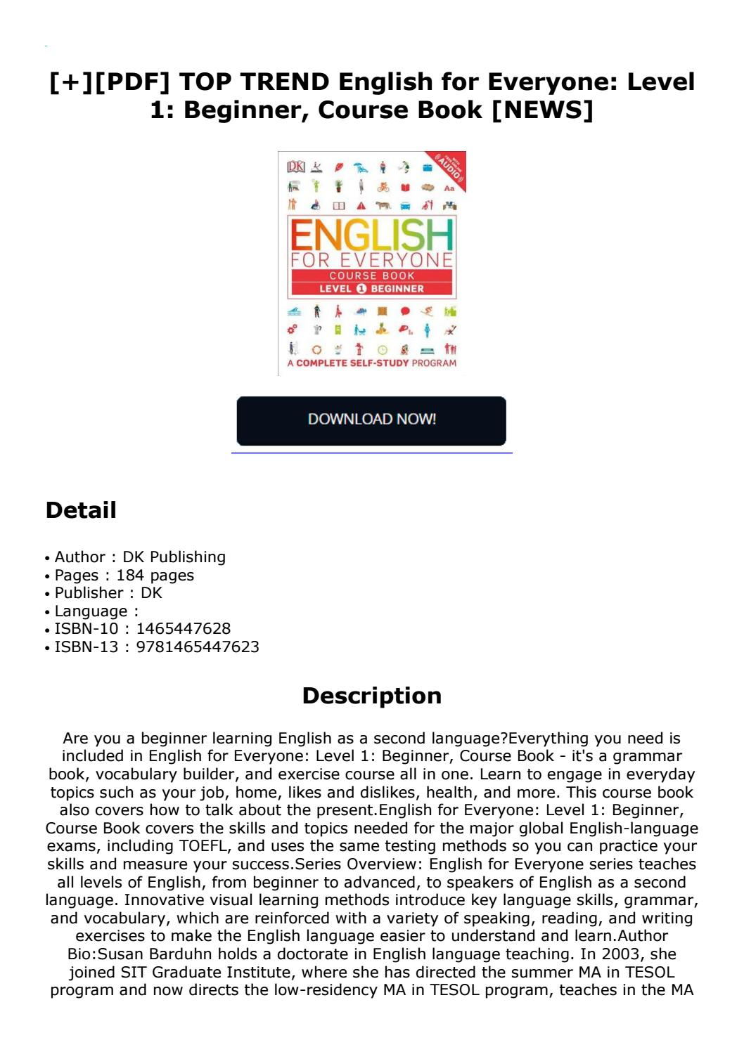 English For Everyone Level 1 Pdf Free Download