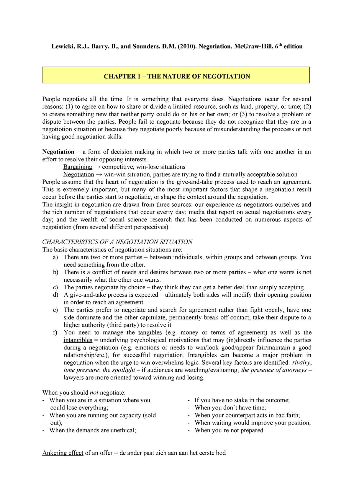 Essentials Of Negotiation 6th Edition Pdf Download
