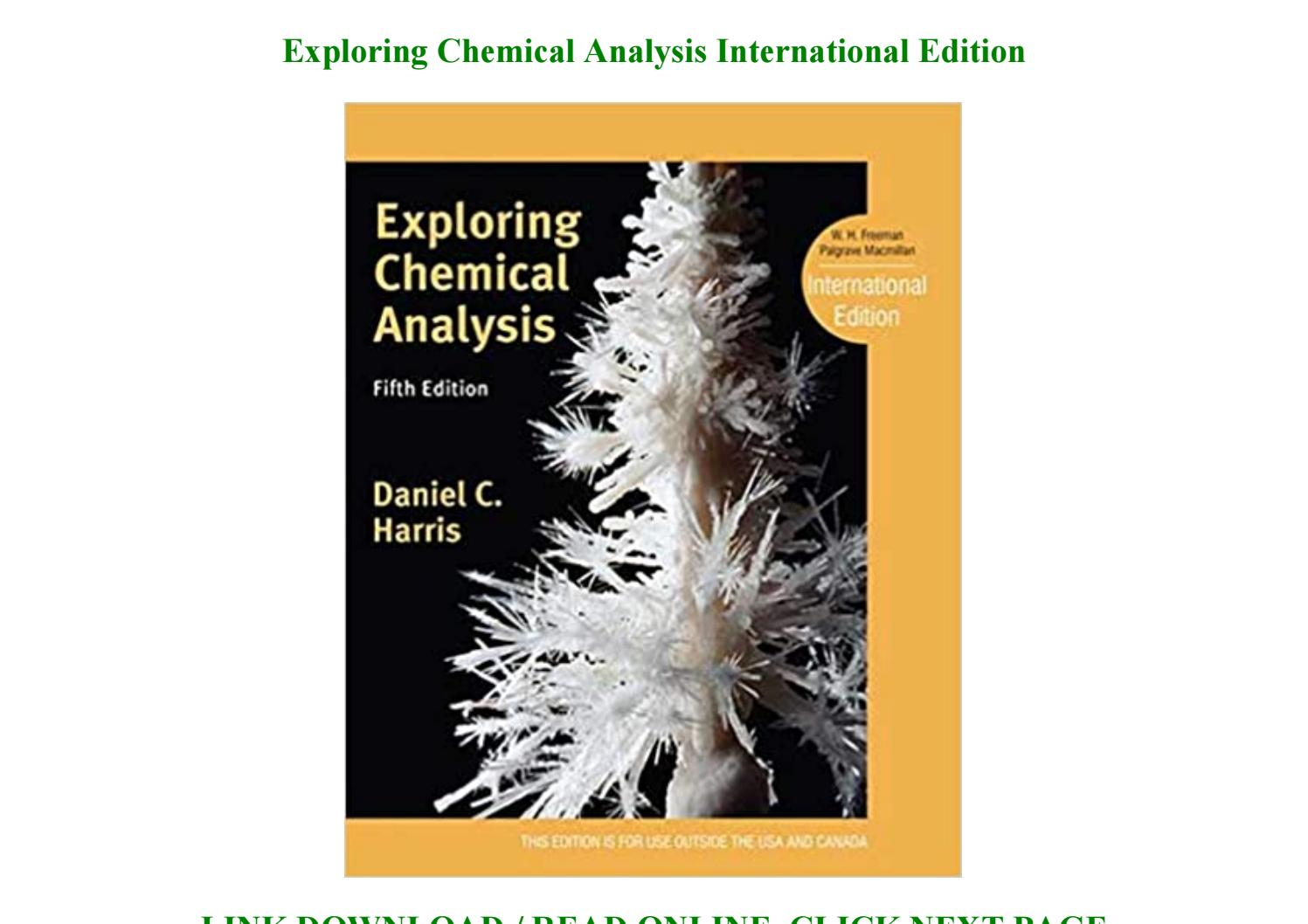 Exploring Chemical Analysis 5th Edition Pdf Download