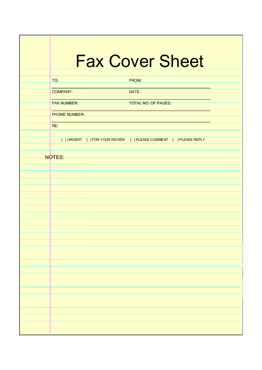 Fillable Printable Fax Cover Sheet Pdf