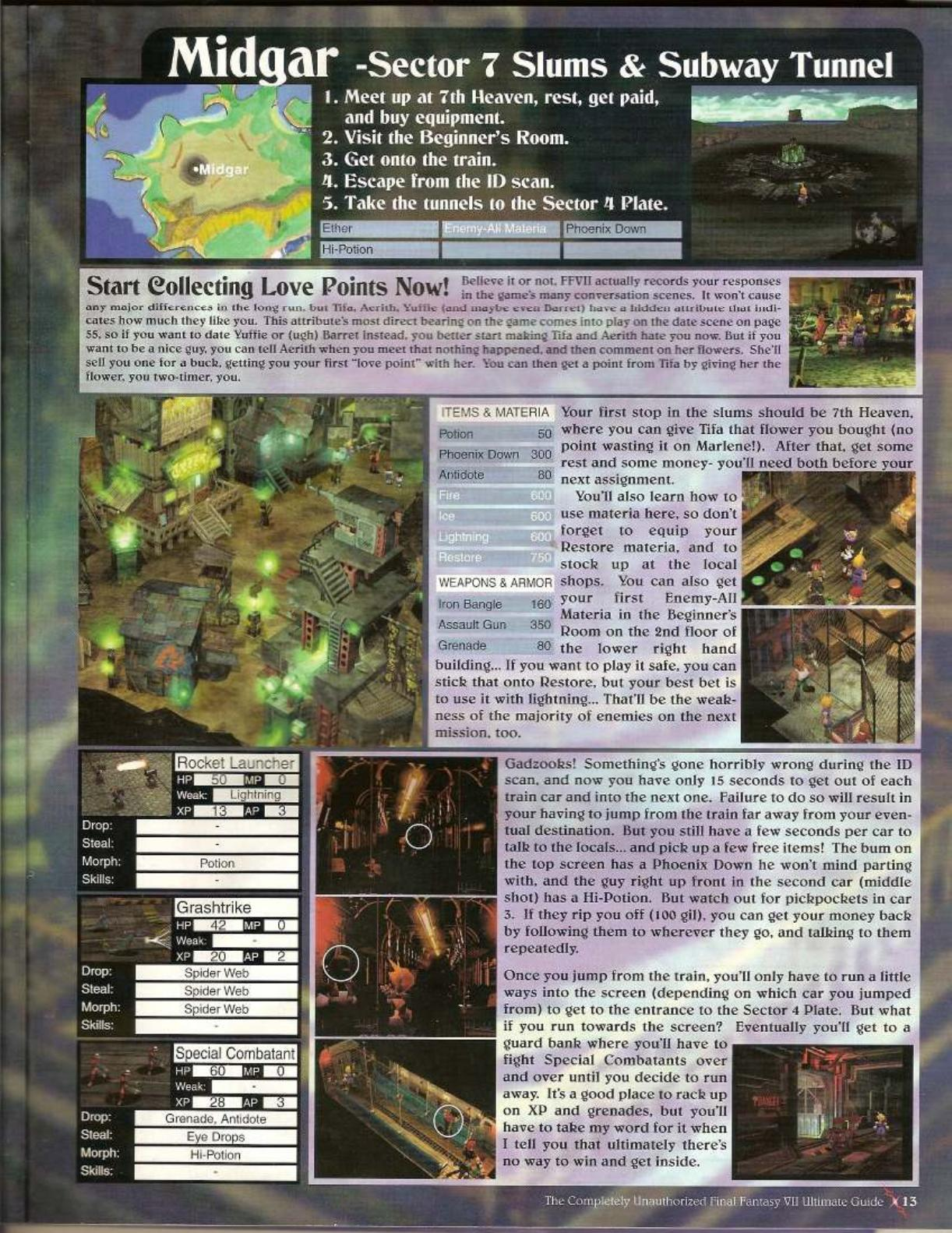 Final Fantasy 7 Walkthrough Pdf Download