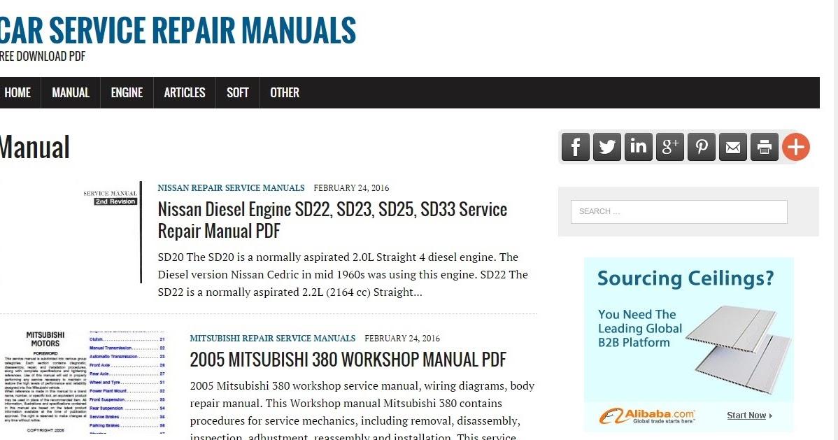 Free Auto Repair Manuals Pdf