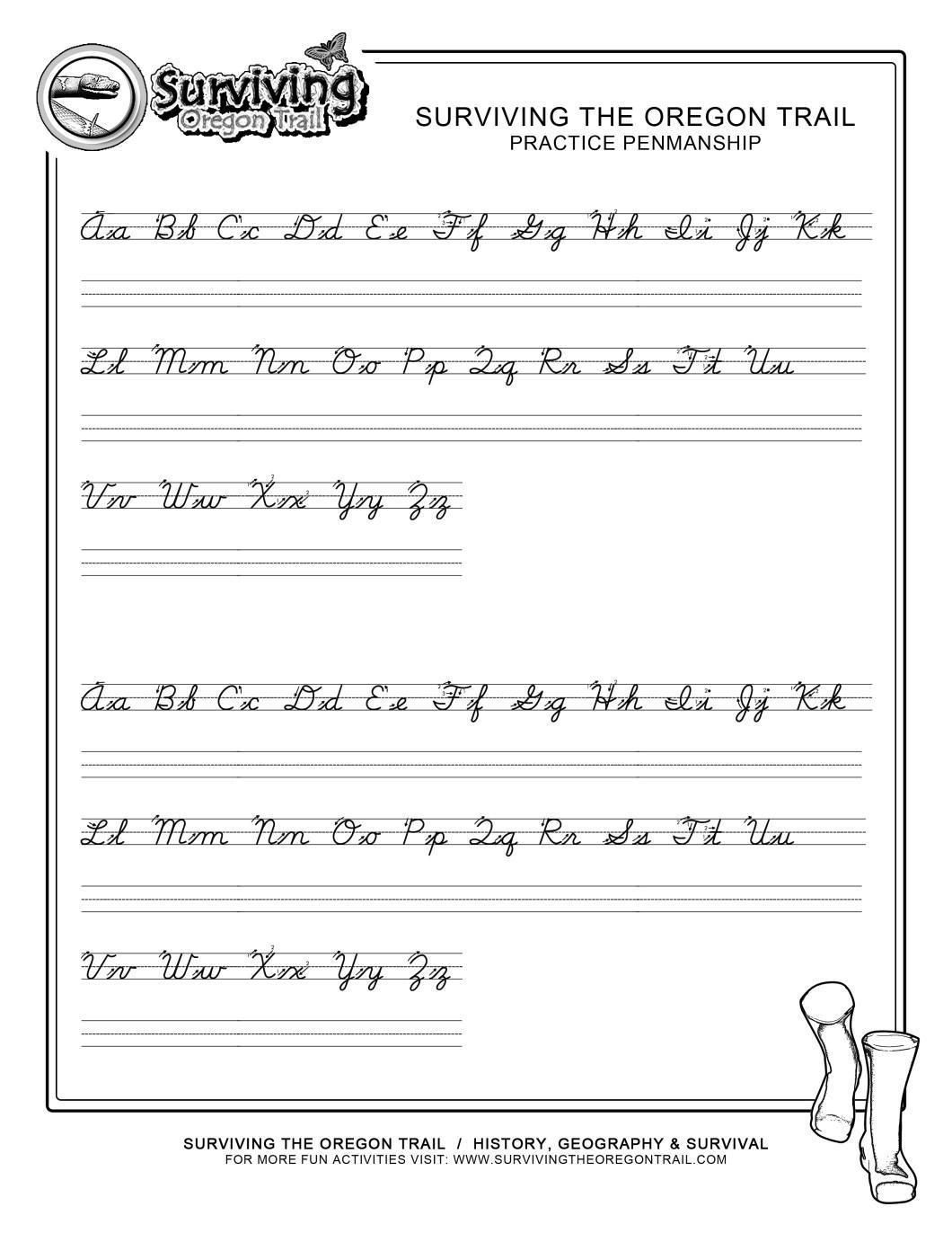 Free Cursive Worksheets Pdf
