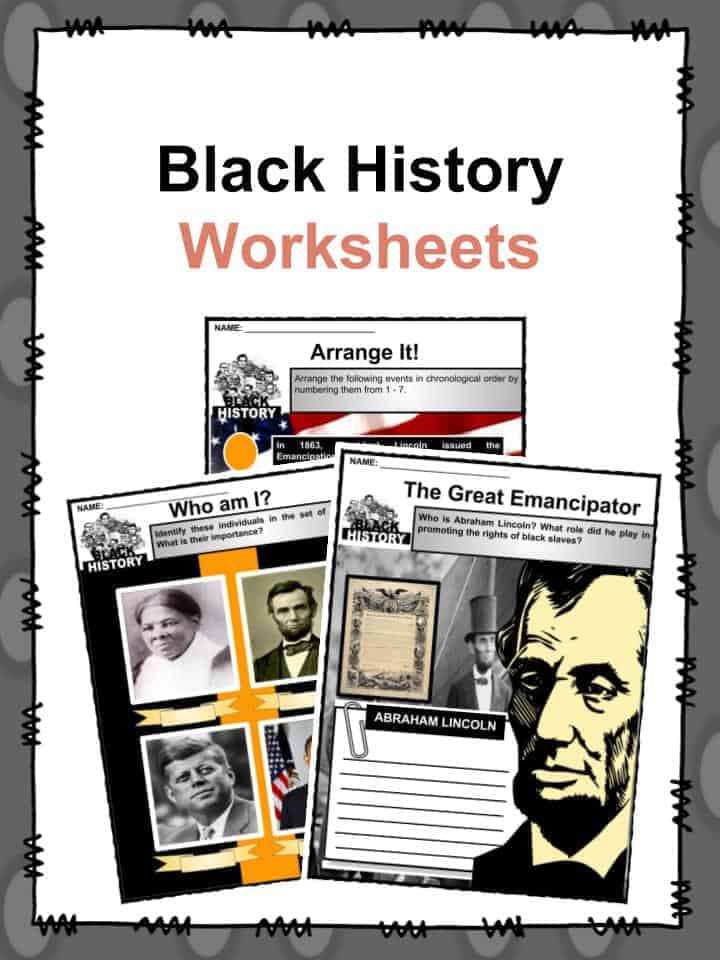 Free Printable Black History Worksheets Pdf