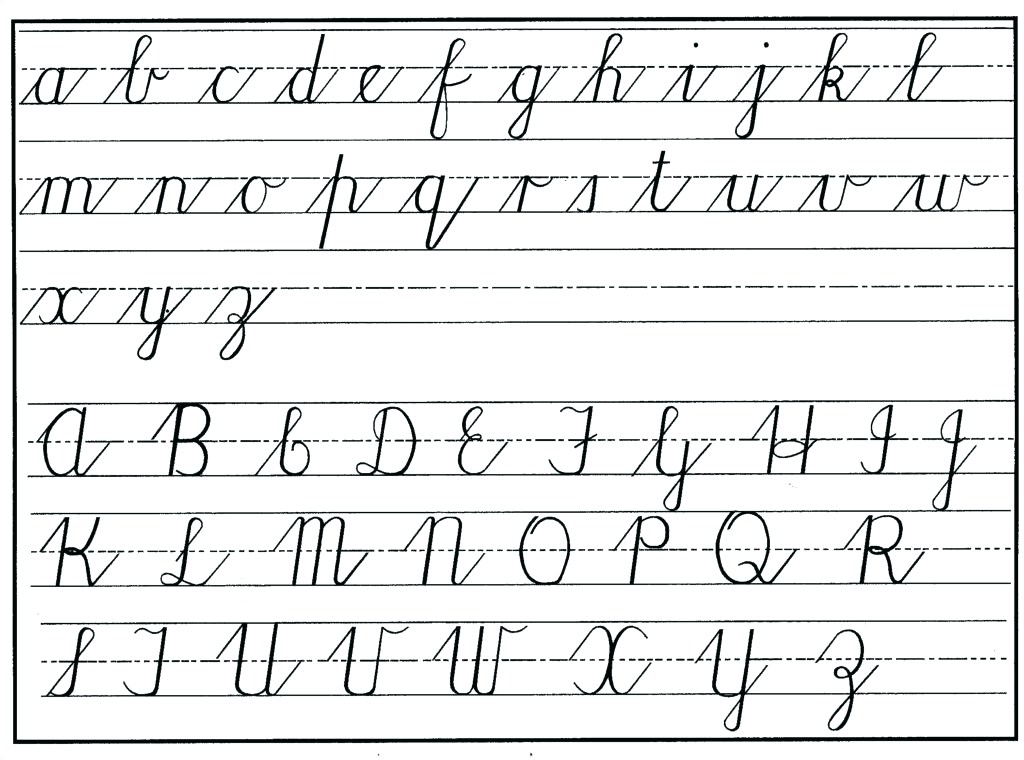 Free Printable Cursive Worksheets Pdf