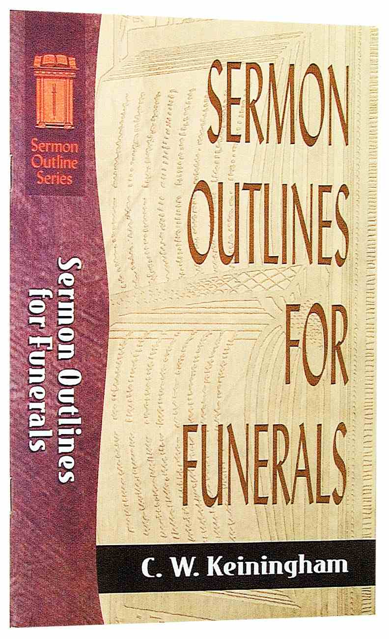 Funeral Sermon Outlines Pdf