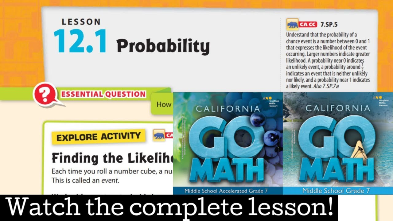 Go Math Grade 7 Accelerated Workbook Pdf