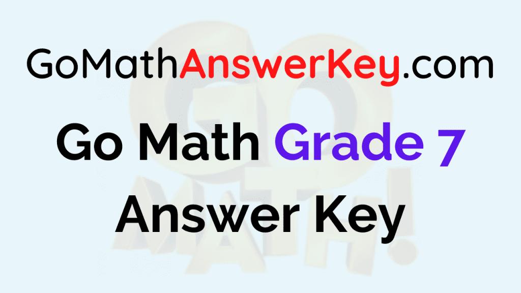 Go Math Grade 7 Pdf