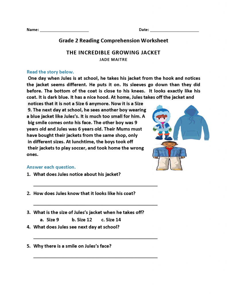 Grade 3 French Reading Comprehension Worksheets Pdf
