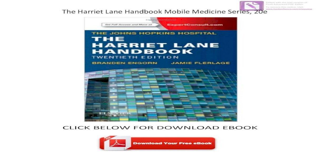 Harriet Lane Handbook Pdf Download
