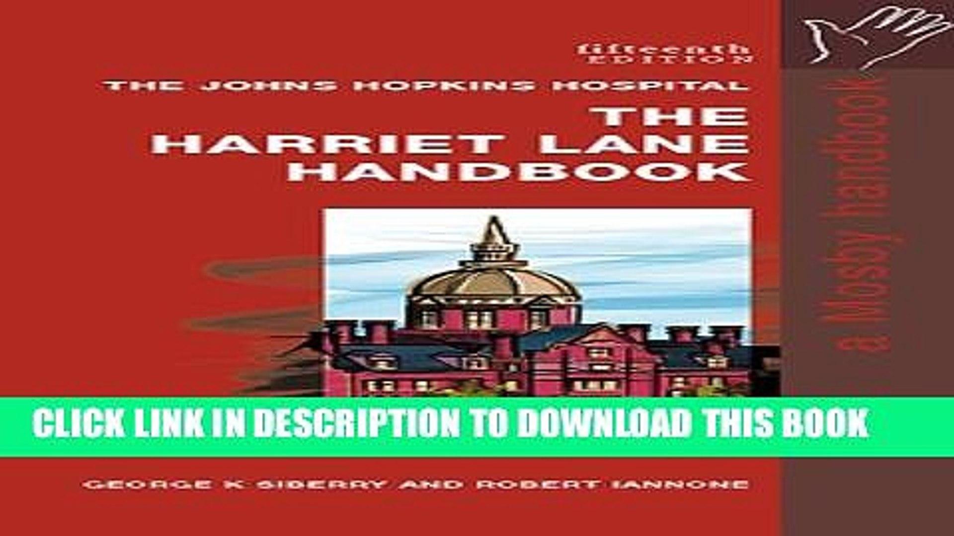 Harriet Lane Handbook Pdf