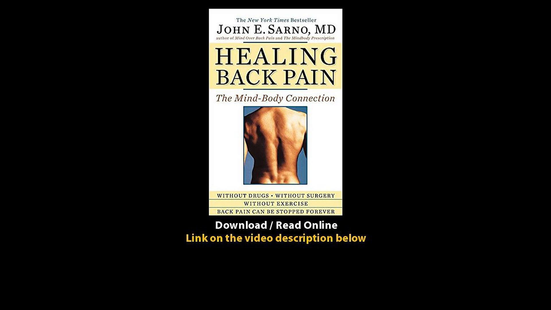 Healing Back Pain John Sarno Pdf Download